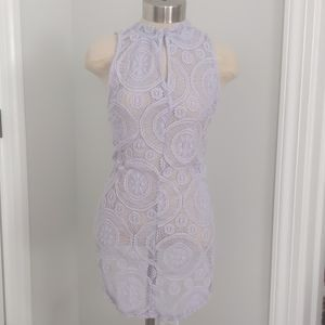 LAVENDAR LACE COVERALL BY ELODIE - SIZE M
